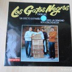 Discos de vinil: GATOS NEGROS, LOS, EP, CADILLAC + 3, AÑO 1966. Lote 253603835