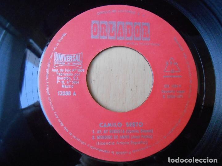 Discos de vinilo: CAMILO SESTO, EP, AY, AY, ROSSETA + 3, AÑO 1971 - Foto 3 - 253606480