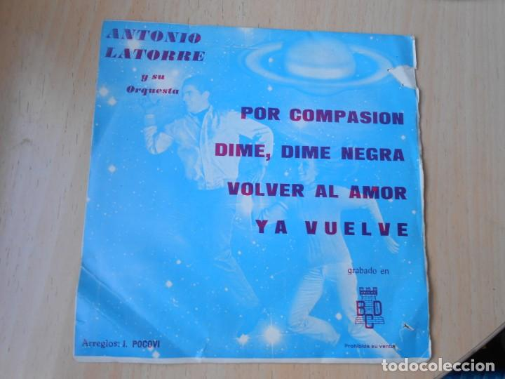 ANTONIO LATORRE Y SU ORQUESTA, EP, POR COMPASIÓN + 3, AÑO 1971 (Música - Discos de Vinilo - EPs - Solistas Españoles de los 70 a la actualidad)
