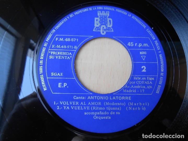 Discos de vinilo: ANTONIO LATORRE y su Orquesta, EP, POR COMPASIÓN + 3, AÑO 1971 - Foto 4 - 253607070