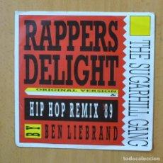Discos de vinilo: THE SUGARHILL GANG - RAPPERS DELIGHT - SINGLE. Lote 253622610