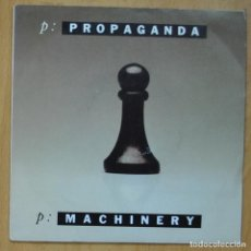 Discos de vinilo: PROPAGANDA - MACHINERY / FROZEN FACES - SINGLE. Lote 253623275