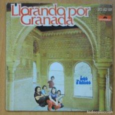 Disques de vinyle: LOS PUNTOS - LLORANDO POR GRANADA / TAN BONITA COMO UN ROCK - SINGLE. Lote 253623380