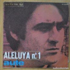 Discos de vinilo: AUTE - ALELUYA Nº1 / ROJO SOBRE NEGRO - SINGLE. Lote 253623510