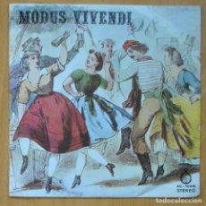Discos de vinilo: MODUS VIVENDI - CAMINANDO POR LAS CALLES / ADIOS - SINGLE. Lote 253623530