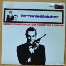 Disques de vinyle: FERRANTE & TEICHER - GOLDFINGER / MI QUERIDO CORAZON / AMOR, PERDONAME / TEMA DE JAMES BOND - EP. Lote 253623690