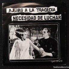 Discos de vinilo: AJENAS A LA TRAGEDIA - NECESIDAD DE LUCHAR. Lote 253642055