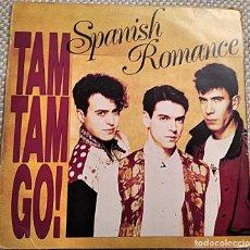 Discos de vinilo: LP TAM TAM GO! SPANISH ROMANCE 1989. FUNDA INTERIOR PROTECTORA. INCLUYE HOJA INTERIOR CON LAS LETRAS. Lote 253642395