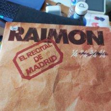 Discos de vinilo: RAIMON – EL RECITAL DE MADRID (1976). Lote 253643795