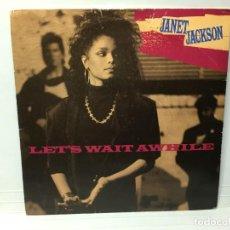 Discos de vinilo: JANET JACKSON - LET'S WAIT A WHILE / NASTY - SINGLE. Lote 253644460