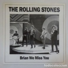 Discos de vinilo: THE ROLLING STONES – BRIAN WE MISS YOU / COLOR MARBLED / LIMITED OF 500 COPIES. Lote 253648260