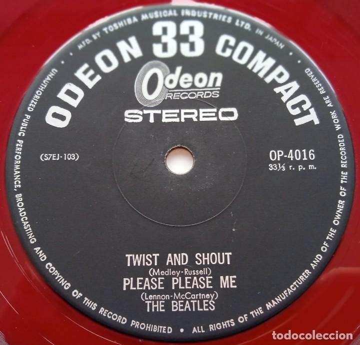 Discos de vinilo: The Beatles - Twist And Shout Vinyl Rojo Japan,1964 Odeon - Foto 5 - 253649210