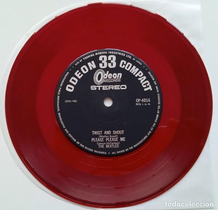Discos de vinilo: The Beatles - Twist And Shout Vinyl Rojo Japan,1964 Odeon - Foto 6 - 253649210