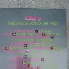Discos de vinilo: DISCO VINILO CBS 8 NUESTROS EXITOS DEL AÑO CBS. Lote 253651255