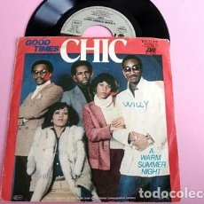 Discos de vinilo: CHIC - GOOD TIME / A WARM SUMMER NIGHT. Lote 253689535