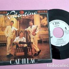 Disques de vinyle: CADILLAC / VALENTINO (EUROVISION) SINGLE PROMO 1986 SOLO CARA A. Lote 253689660