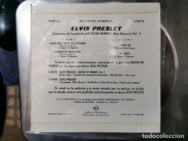 Discos de vinilo: ELVIS PRESLEY & THE JORDANIERES (BANDA SONORA DE BLUE HAWAII) EP 1963 - Foto 2 - 132127978