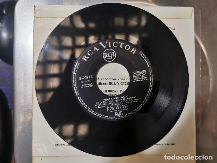 Discos de vinilo: ELVIS PRESLEY & THE JORDANIERES (BANDA SONORA DE BLUE HAWAII) EP 1963 - Foto 3 - 132127978