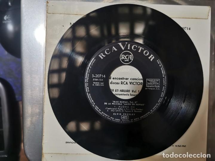 Discos de vinilo: ELVIS PRESLEY & THE JORDANIERES (BANDA SONORA DE BLUE HAWAII) EP 1963 - Foto 4 - 132127978