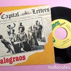 Discos de vinilo: CAPITAL LETTERS- ALEGRAOS - SPAIN SINGLE 1980. Lote 253695105