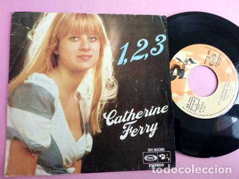 CATHERINE FERRY - FESTIVAL EUROVISION, SG, 1, 2, 3 (2º PREMIO FESTIVAL EUROVISIÓN) + 1, AÑO 1976 (Música - Discos - Singles Vinilo - Festival de Eurovisión)