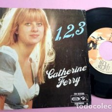 Discos de vinilo: CATHERINE FERRY - FESTIVAL EUROVISION, SG, 1, 2, 3 (2º PREMIO FESTIVAL EUROVISIÓN) + 1, AÑO 1976. Lote 253705255