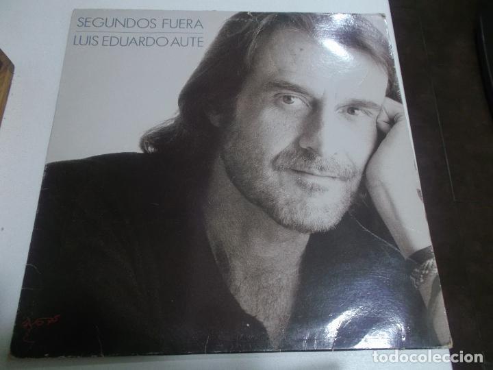 LUIS EDUARDO AUTE - SEGUNDOS FUERA - ARIOLA 1989 (Música - Discos - LP Vinilo - Cantautores Españoles)