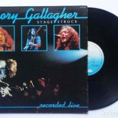 "Discos de vinilo: LP RORY GALLAGHER ""STAGE STRUCK"" 1980. Lote 253774650"