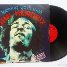 "Discos de vinilo: LP JIMI HENDRIX ""LOOKING BACK WITH"" 1981. Lote 253776875"