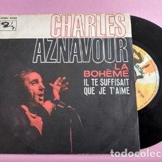 Discos de vinilo: CHARLES AZNAVOUR / LA BOHEME. Lote 253787565