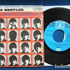 Discos de vinilo: BEATLES SINGLE EP RE EDICION BANDA SONORA QUE NOCHE LA DE AQUEL DIA ESPAÑA AÑOS 70 AZUL CIELO LABEL. Lote 253788980