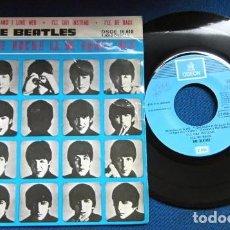 Discos de vinilo: BEATLES SINGLE EP RE EDICION BANDA SONORA QUE NOCHE LA DE AQUEL DIA ESPAÑA AÑOS 70 LABEL AZUL CIELO. Lote 253789200