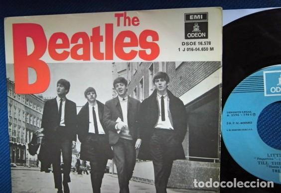 Discos de vinilo: BEATLES SINGLE EP RE EDICION EDITADO POR EMI ODEON ESPAÑA ORIGINAL AÑOS 70 CONJUNTO MUSICAL BEAT - Foto 2 - 253789505