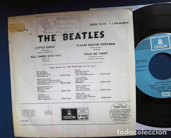 Discos de vinilo: BEATLES SINGLE EP RE EDICION EDITADO POR EMI ODEON ESPAÑA ORIGINAL AÑOS 70 CONJUNTO MUSICAL BEAT - Foto 4 - 253789505