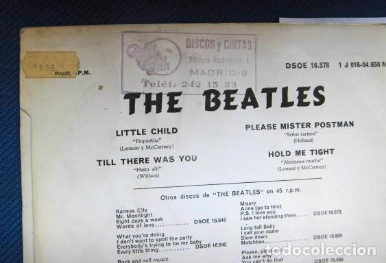 Discos de vinilo: BEATLES SINGLE EP RE EDICION EDITADO POR EMI ODEON ESPAÑA ORIGINAL AÑOS 70 CONJUNTO MUSICAL BEAT - Foto 5 - 253789505