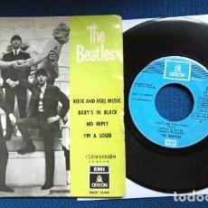 Discos de vinilo: BEATLES SINGLE EP RE EDICION EDITADO POR EMI ODEON ESPAÑA ORIGINAL AÑOS 70 CAMBIO COLOR FRANJA FUNDA. Lote 253789675