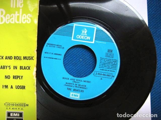 Discos de vinilo: BEATLES SINGLE EP RE EDICION EDITADO POR EMI ODEON ESPAÑA ORIGINAL AÑOS 70 CAMBIO COLOR FRANJA FUNDA - Foto 2 - 253789675