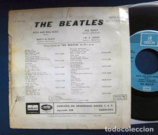 Discos de vinilo: BEATLES SINGLE EP RE EDICION EDITADO POR EMI ODEON ESPAÑA ORIGINAL AÑOS 70 CAMBIO COLOR FRANJA FUNDA - Foto 4 - 253789675