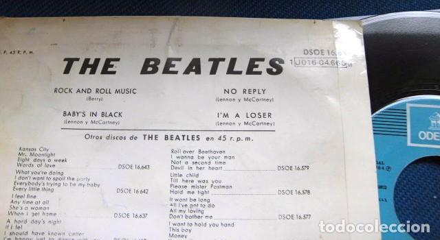 Discos de vinilo: BEATLES SINGLE EP RE EDICION EDITADO POR EMI ODEON ESPAÑA ORIGINAL AÑOS 70 CAMBIO COLOR FRANJA FUNDA - Foto 5 - 253789675