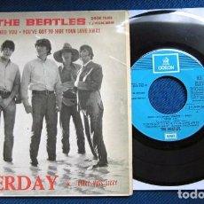 Discos de vinilo: BEATLES SINGLE EP RE EDICION EDITADO POR EMI ODEON ESPAÑA ORIGINAL AÑOS 70 CONJUNTO MUSICAL BEAT. Lote 253790040