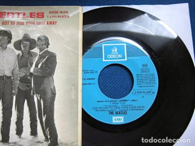 Discos de vinilo: BEATLES SINGLE EP RE EDICION EDITADO POR EMI ODEON ESPAÑA ORIGINAL AÑOS 70 CONJUNTO MUSICAL BEAT - Foto 2 - 253790040
