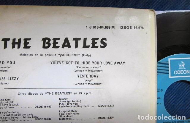 Discos de vinilo: BEATLES SINGLE EP RE EDICION EDITADO POR EMI ODEON ESPAÑA ORIGINAL AÑOS 70 CONJUNTO MUSICAL BEAT - Foto 4 - 253790040