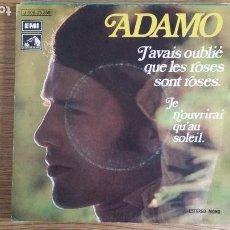 Discos de vinilo: ** ADAMO - J'AVAIS OUBLIÉ QUE LE ROSES SONT ROSES + 1 - SG AÑO 1972 - PROMOCIÓN - LEER DESCRIPCIÓN. Lote 253791645