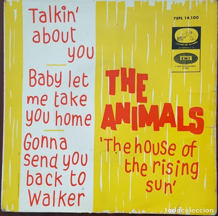 EP / THE ANIMALS - THE HOUSE OF THE RISING SUN, 1964 (Música - Discos de Vinilo - EPs - Pop - Rock Internacional de los 50 y 60)