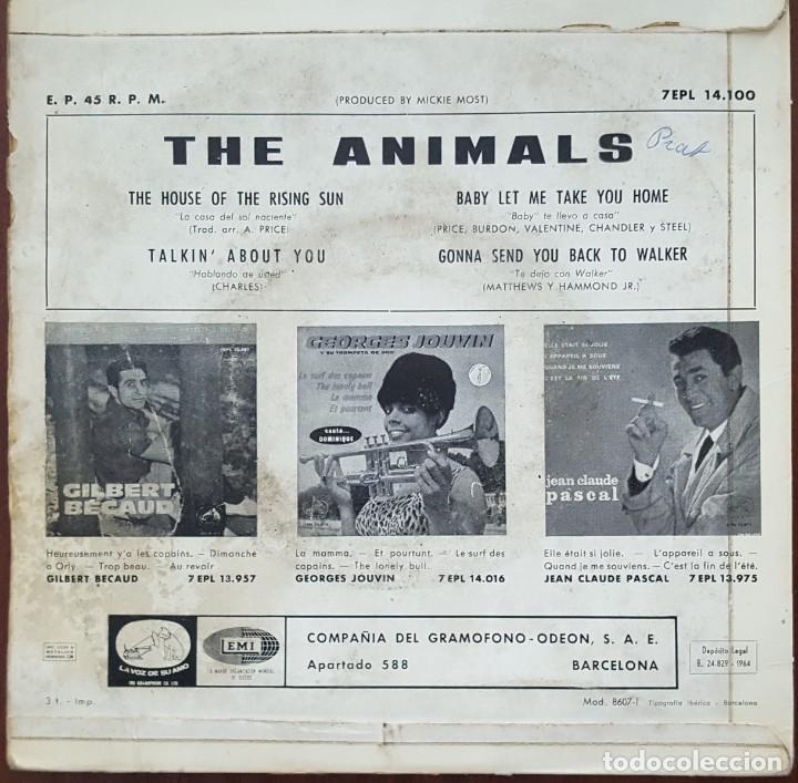 Discos de vinilo: EP / THE ANIMALS - THE HOUSE OF THE RISING SUN, 1964 - Foto 2 - 253808480