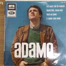 Discos de vinilo: ** ADAMO - MES MAINS SUR TES HANCHES + 3 - EP AÑO 1965 - MADE IN FRANCE - LEER DESCRIPCIÓN. Lote 253809160
