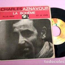 Discos de vinilo: CHARLES AZNAVOUR – LA BOHÊME + 2 EP SPAIN 1965. Lote 253811145
