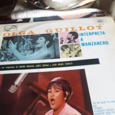 Discos de vinilo: OLGA GUILLOT INTERPRETA A MANZANERO, VINILO. Lote 253830190