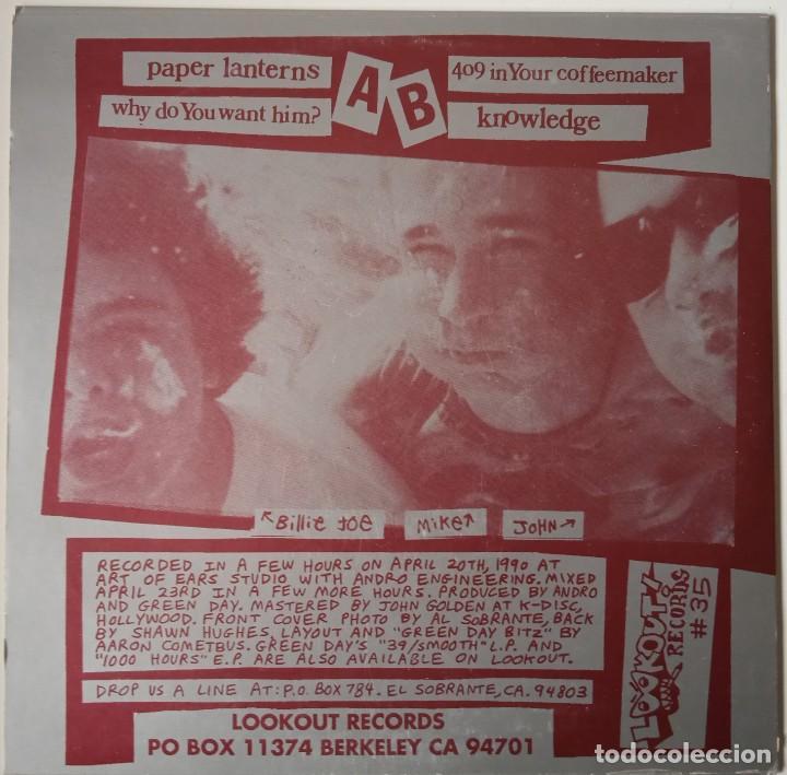 Discos de vinilo: Green Day...Slappy E.P. (Lookout! Records 1990) Usa - Foto 2 - 253848375
