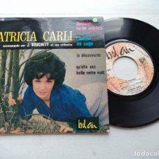 Discos de vinilo: PATRICIA CARLI – DEMAIN TU TE MARIES + 3 EP FRANCIA 1963 VG+/VG+. Lote 253874200